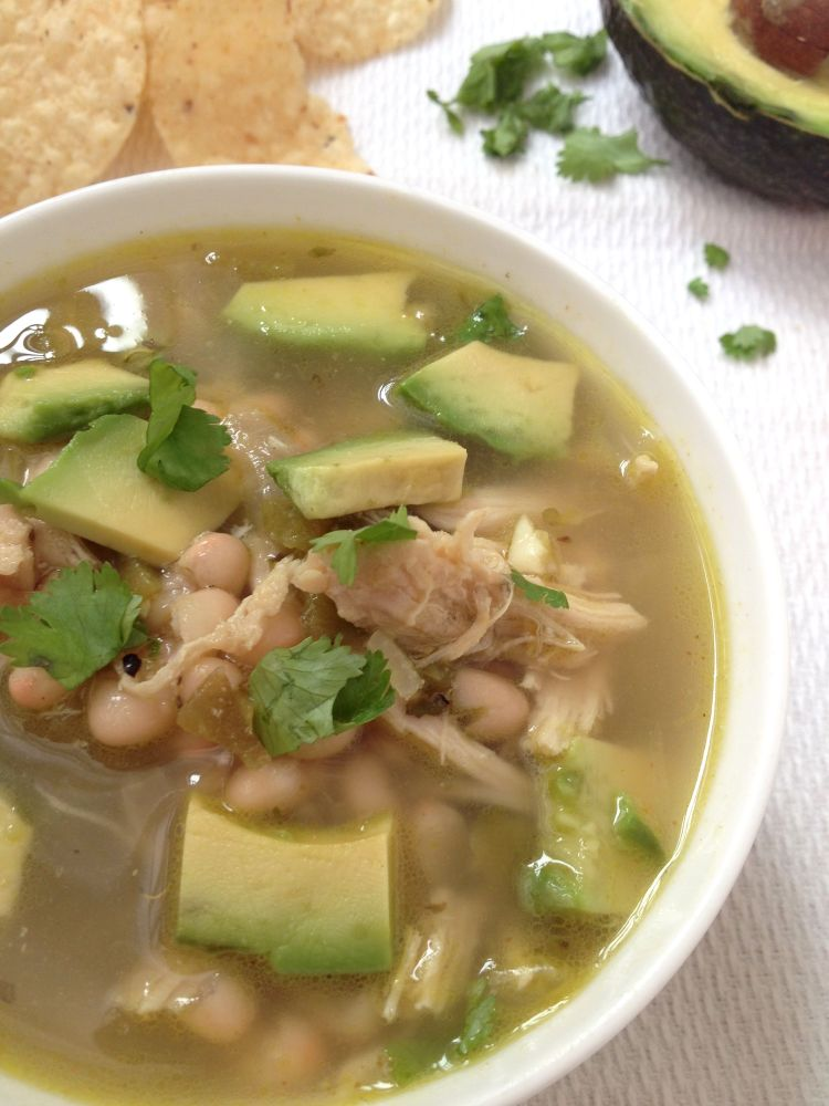 Chicken Avocado White Bean Soup
